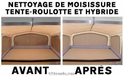 nettoyage de moisissure pour toiles de tente roulotte et. Black Bedroom Furniture Sets. Home Design Ideas